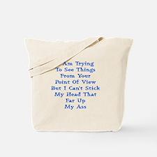 Head In Ass Shirt Tote Bag