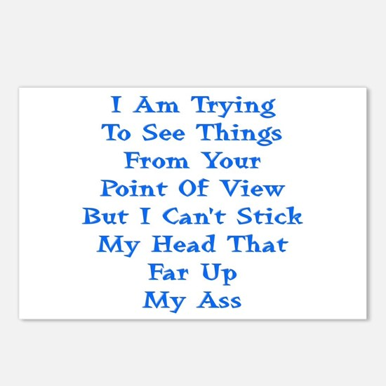 Head In Ass Shirt Postcards (Package of 8)