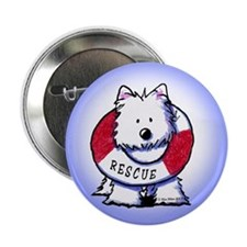 "Rescue Westie 2.25"" Button (10 pack)"
