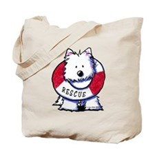 Rescue Westie Tote Bag