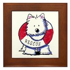 Rescue Westie Framed Tile
