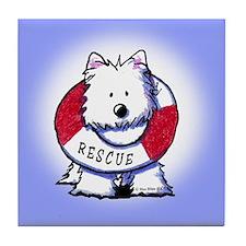 Rescue Westie Tile Coaster