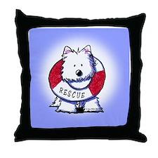 Rescue Westie Throw Pillow