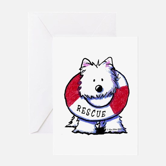 Rescue Westie Greeting Card
