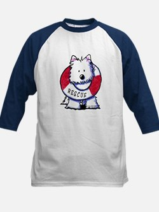 Rescue Westie Kids Baseball Jersey