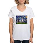 Starry Night Boston (#2) Women's V-Neck T-Shirt