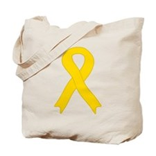 Gold Ribbon Tote Bag