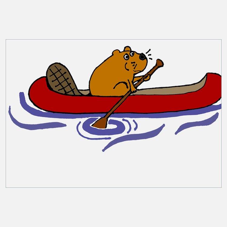 Beaver Canoe Home Decor