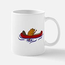 Beaver Canoeing Mugs