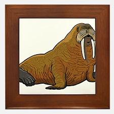 Walrus wild animal Framed Tile