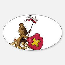 Heraldic lion shield Decal