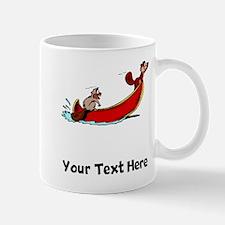 Beavers In Boat (Custom) Mugs