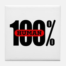 100 Percent Human Tile Coaster