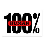 100 Percent Human Postcards (Package of 8)