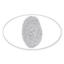 fingerprint Oval Decal