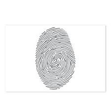 fingerprint Postcards (Package of 8)