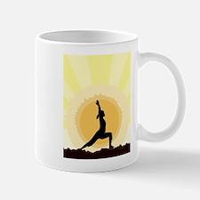Yoga Warrior Pose Mugs