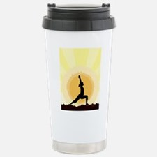 Yoga Warrior Pose Stainless Steel Travel Mug