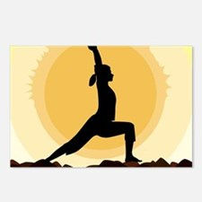 Yoga Warrior Pose Postcards (Package of 8)