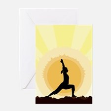 Yoga Warrior Pose Greeting Cards
