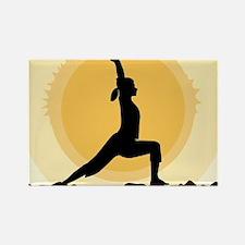 Yoga Warrior Pose Magnets