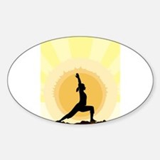 Yoga Warrior Pose Decal