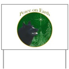 Schipperke Peace Yard Sign