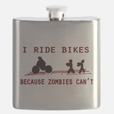 I Ride Bikes, Because Zombies Can't. Flask