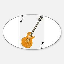 Guitar Playing Card Decal