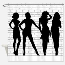 Hooker Silhouettes Shower Curtain