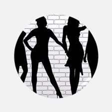 Hooker Silhouettes Button