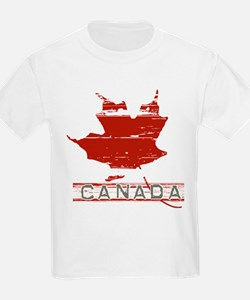 Classic Weathered Vintage Canadian Maple L T-Shirt