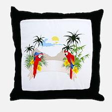 Spix macaw couple Throw Pillow
