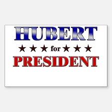 HUBERT for president Rectangle Decal