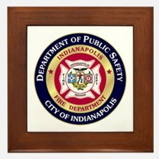 Indianapolis Fire Framed Tile