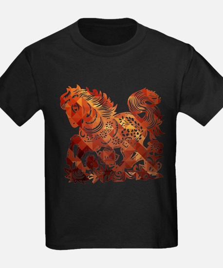 Decorated horse Chinese new year poster T-Shirt