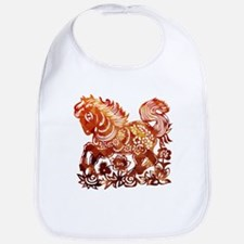 Decorated horse Chinese new year poster Bib
