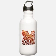 Decorated horse Chines Water Bottle