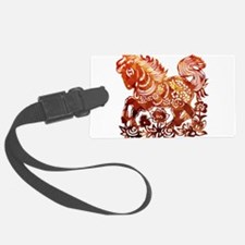 Decorated horse Chinese new year Luggage Tag