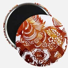 Decorated horse Chinese new year poster Magnets