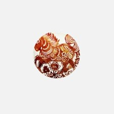Decorated horse Chinese new Mini Button (100 pack)