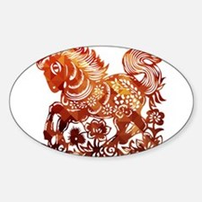 Decorated horse Chinese new year poster Decal