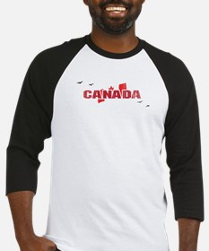 Canada Flag with Canadian Geese Baseball Jersey