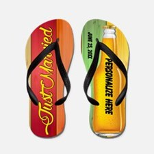 Just Married Newlywed Custom Flip Flops