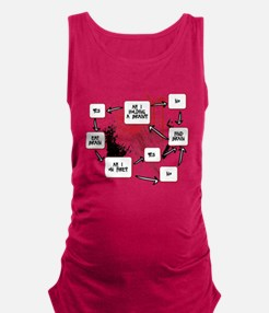 Zombie Thought Process Maternity Tank Top