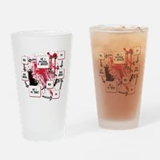 Zombie Thought Process Drinking Glass