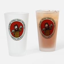 Zombie Jesus Loves Everybody... Esp Drinking Glass