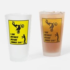 I Ride Dirt Bickes Because Zombies Drinking Glass