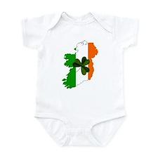 Map of Ireland w/Shamrock Infant Creeper