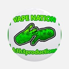 Vape Nation Round Ornament